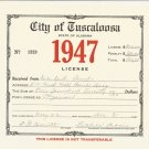 1947 City of Tuscaloosa , Alabama Business License