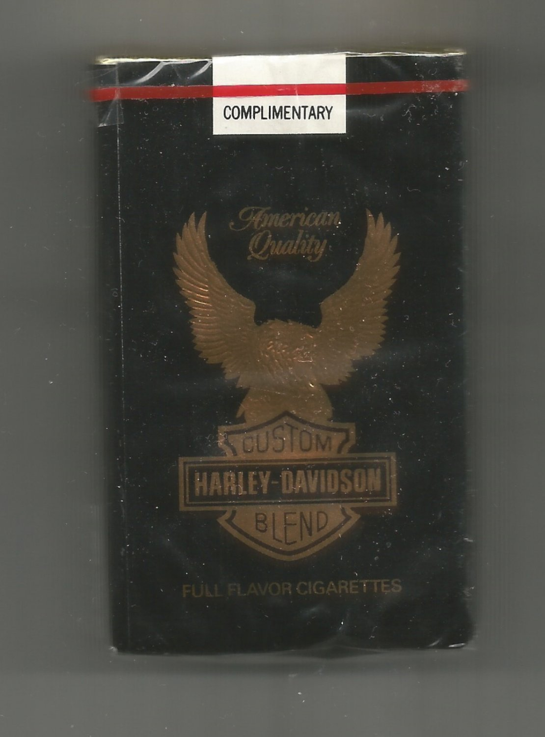 Vintage Harley Davidson Pack of King Cigarettes never opened collectible