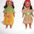 Vintage Indian Dolls pair- Approximately 4 inches tall- Celluloid?