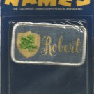 Name embroidery sew on patch- ROBERT-  vintage 1973 (#33)