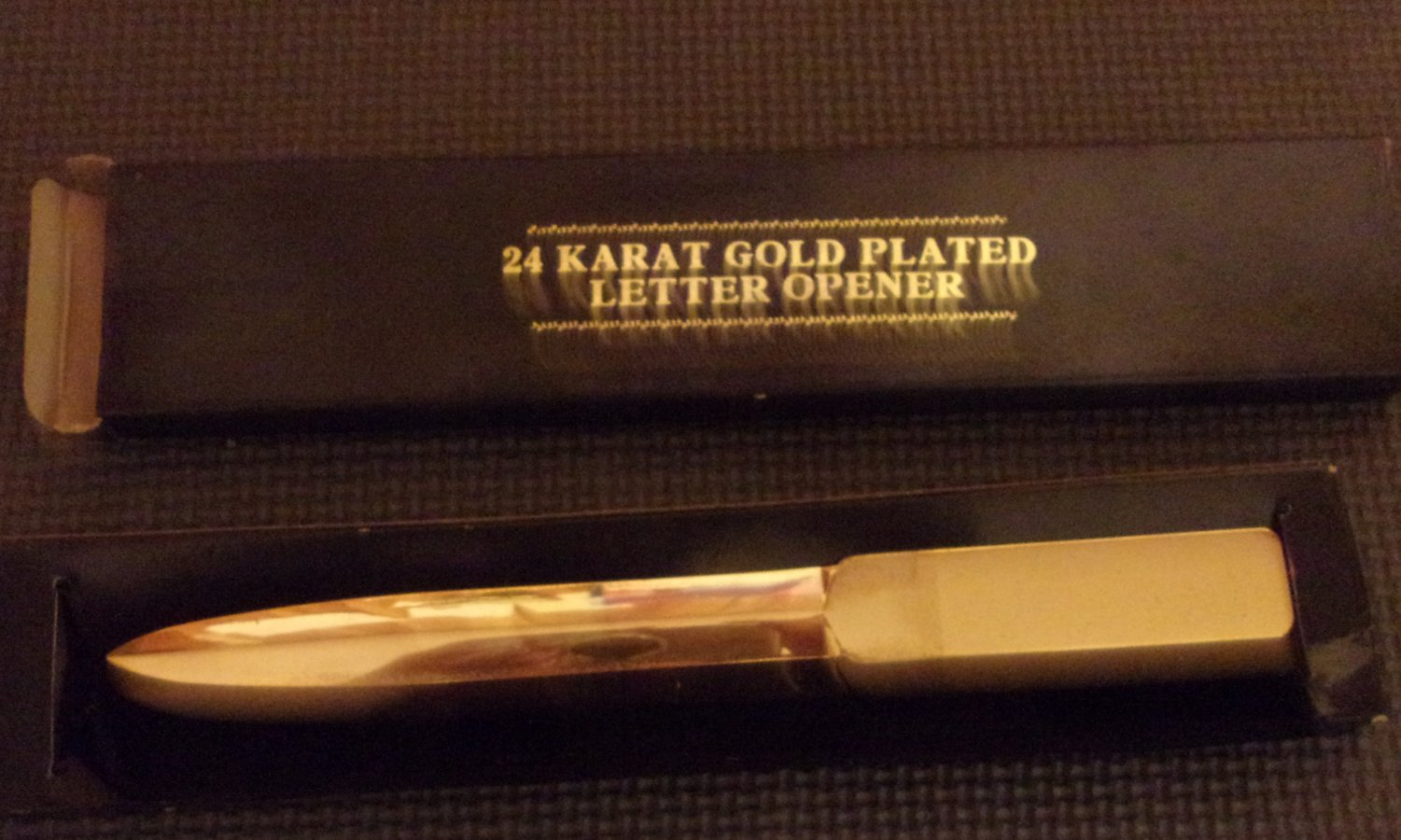 24 Karat Gold Plated Letter Opener with protective sleeve