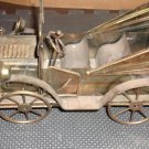 Vintage Brass Metal Wind up musical Model T. plays King of the Road