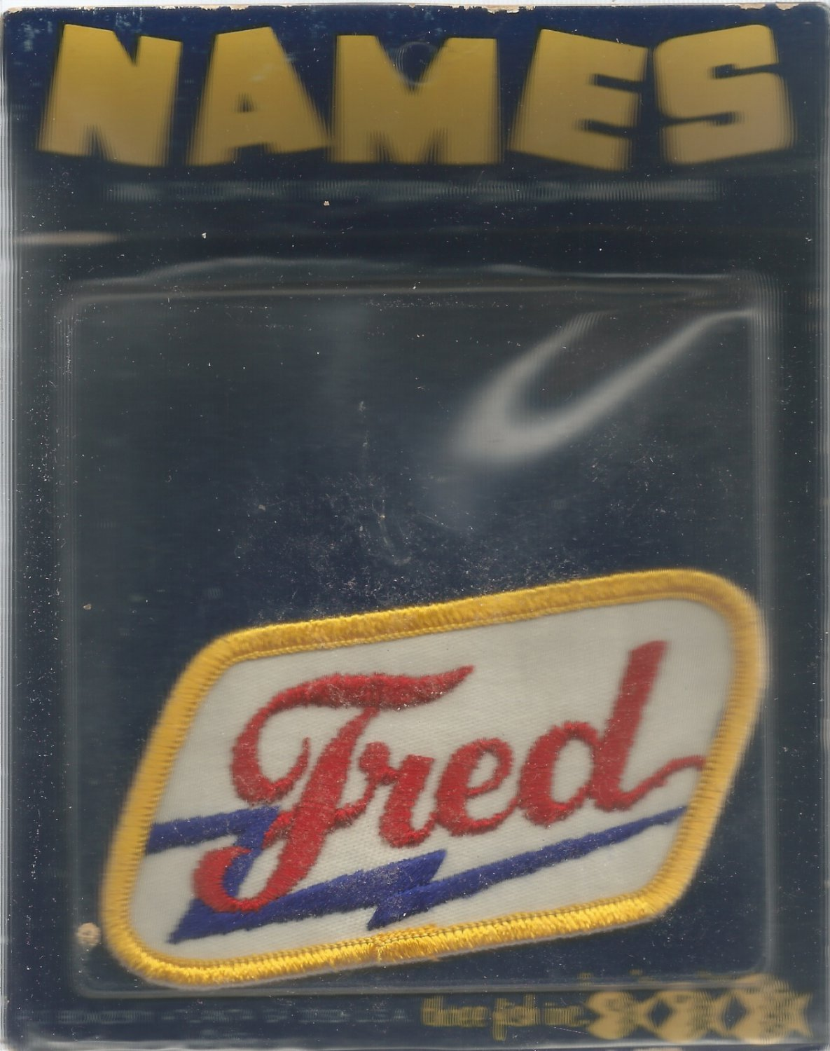 Name embroidery sew on patch- FRED -   vintage 1973 (#50)