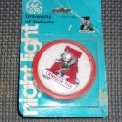 Vintage University of Alabama Night Light- still on sealed card-   GE 1980