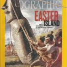 National Geographic-  July 2012- Easter Island- the riddle of the moving statues