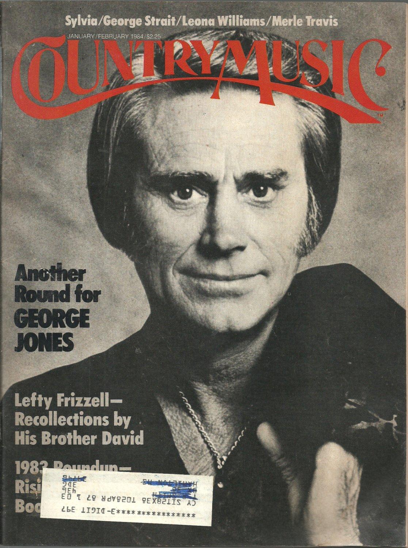 Country Music Magazine- January/February 1984- George Jones