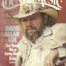 Country Music Magazine- January/February 1985- David Allan Coe