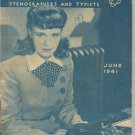 The Gregg Writer- June 1941- a magazine for secretaries, stenographers, typists