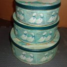 Round Blue and White Duck Tins- set of 3