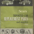Sears Imported Car Replacement Parts and Supplies Catalog 1968