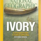 National Geographic-   September 2015  -Ivory a smuggled tusk. A hidden GPS chip