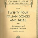 24 Italian Songs and Arias- Med. High- of the 17th and 18th centuries-  Vocal