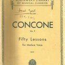 Concone Op. 9 Fifty Lessons for Medium Voice.  Vocal.- Vol. 242