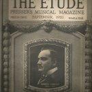 The Etude Presser's Musical Magazine-  September 1921- Enrico Caruso on cover