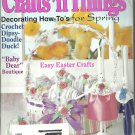 Crafts'n Things magazine-  April 1995- Decorating how- to's for spring