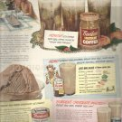 August 1949  Bordens Instant Coffee ad with Elsie    ad  (#4185)