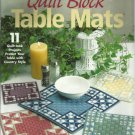 The Needlecraft Shop Plastic Canvas Quilt Blocks Table Mats Leaflet 845503