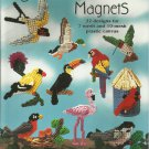 American School of Needlework Plastic Canvas Bird Magnets Leaflet 3189