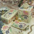 Annie's Attic Plastic Canvas  Floral Bouquet Vanity Set leaflet 870333.