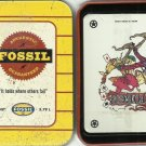 Fossil tin and playing cards  c2001.