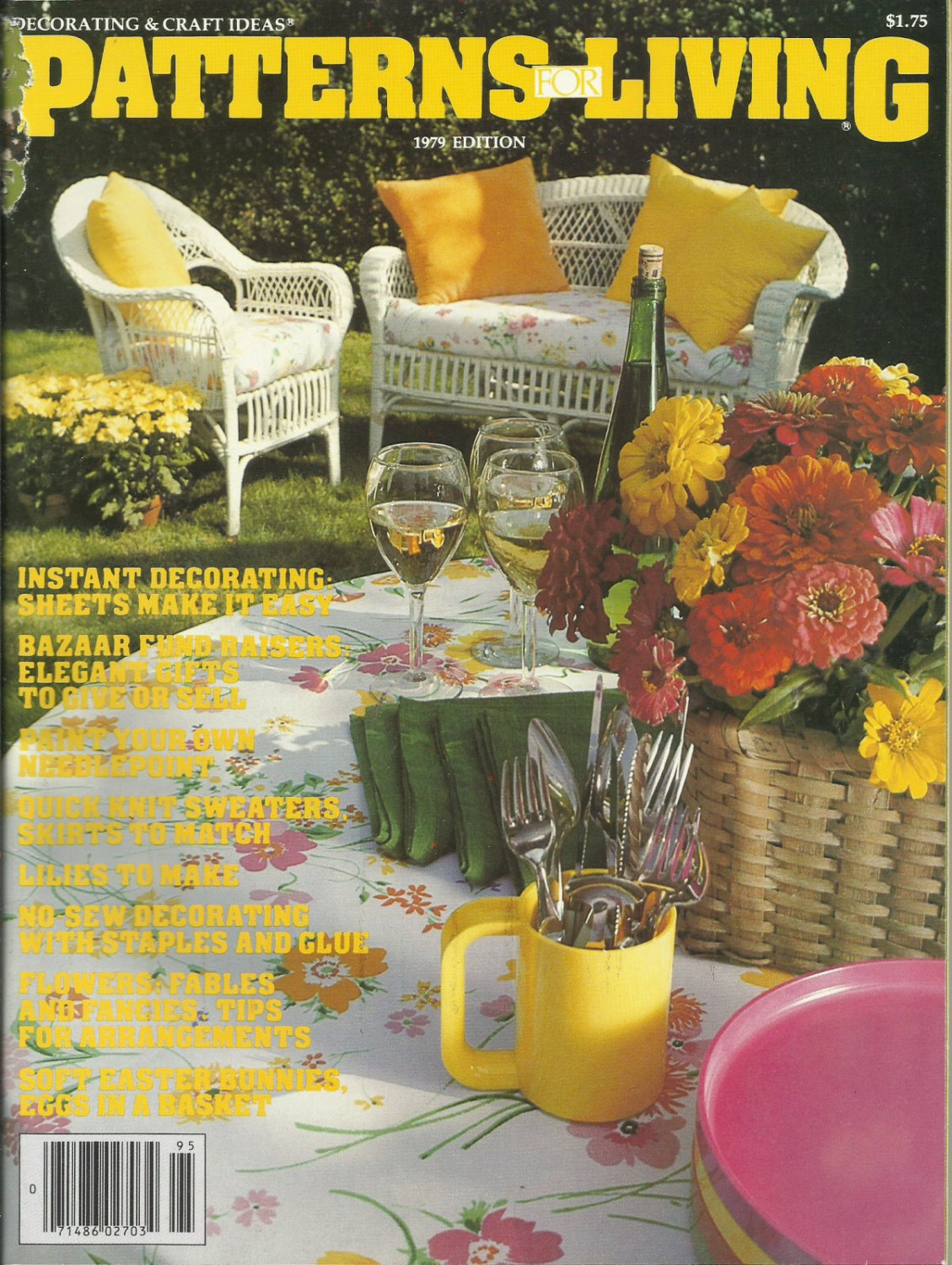 Decorating & Craft Ideas- Patterns for Living 1979 edition
