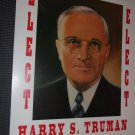 Harry S. Truman  reproduction poster 14x 22 unframed. Suitable to be framed.