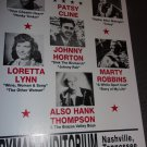 Grand Ole Opry1953 reproduction poster 14x22 unframed. Suitable to be framed.