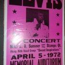 Elvis with J. D.Sumner & Stamps-April 5,1972   reproduction poster14x22 unframed