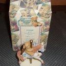 Cherished Teddies Monthly Carousel Birthstone  Figurine - March -  c2000 in box