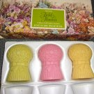 Avon Field Flowers Three Perfumed Soaps - Vintage  1970s.