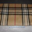 Avon Autumn Plaid  Scarf-  100% Acrylic-   Avon c2001