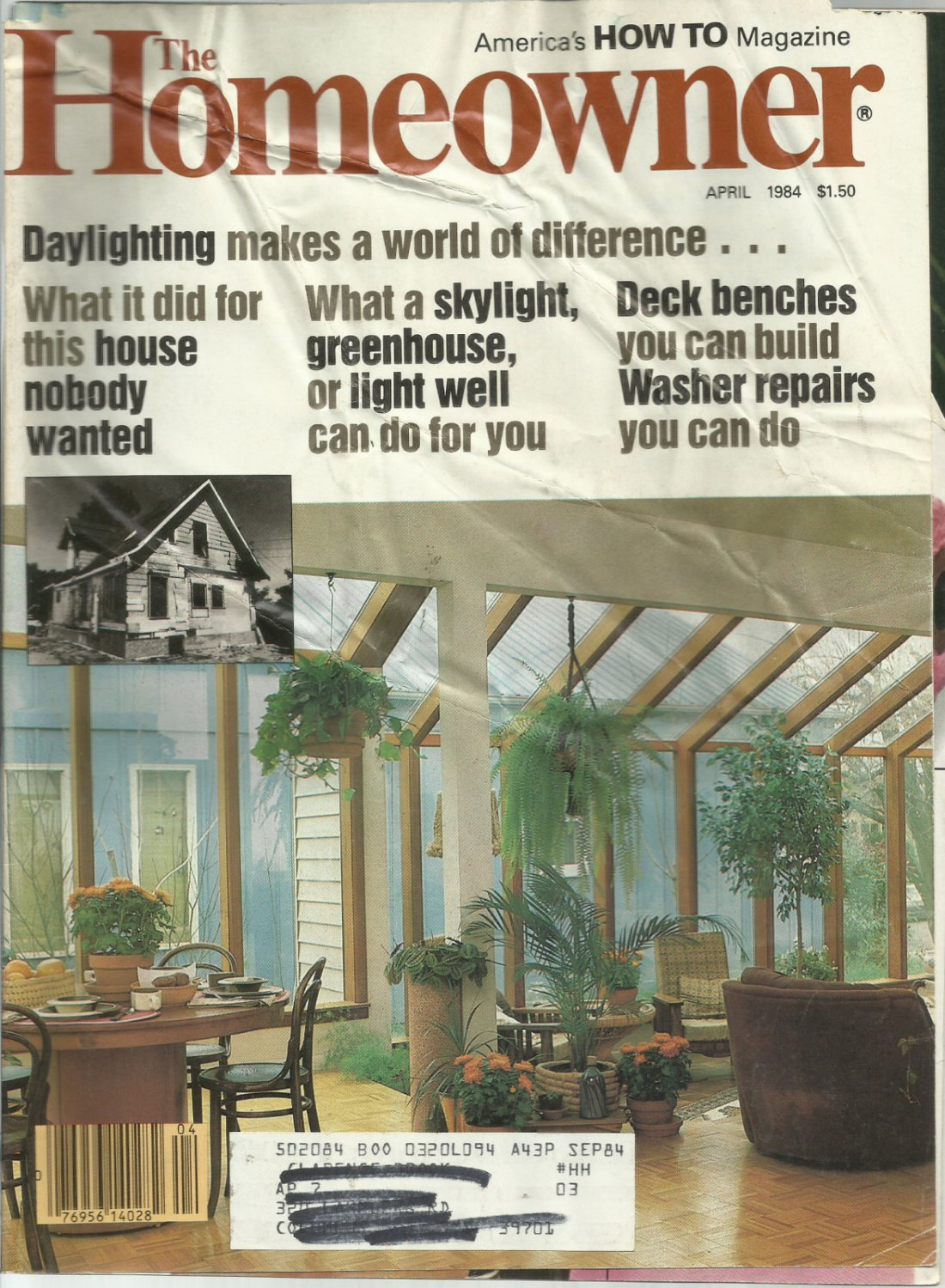 American's How To magazine The Homeowner-  April 1984- Deck benches you can build