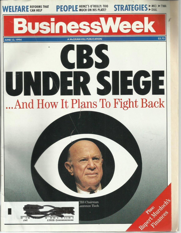 Business Week Magazine-  June 13, 1994- CBS under siege