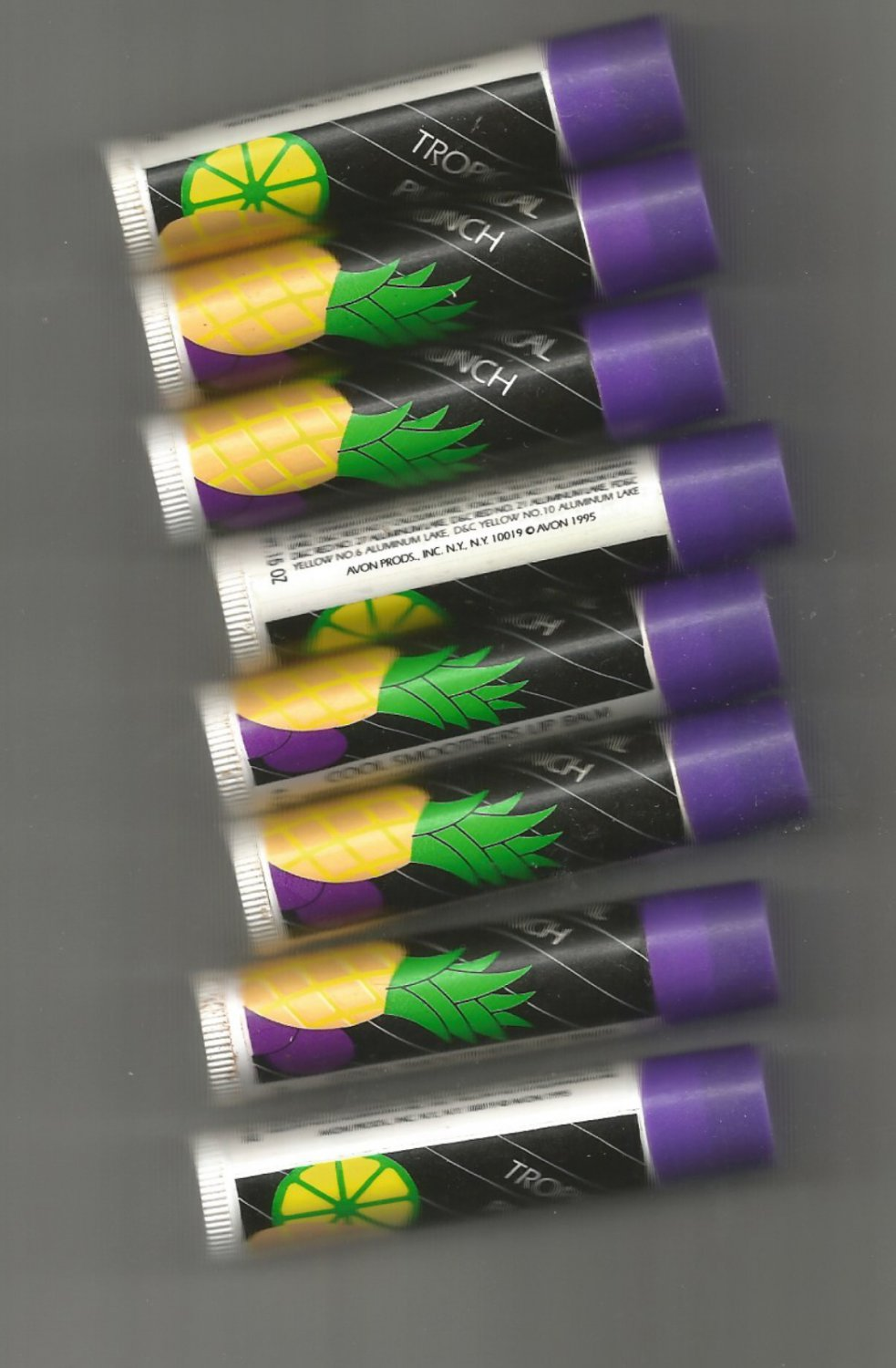 8 Avon  Cool Smoothers Lip Balm- Tropical Punch  - VINTAGE
