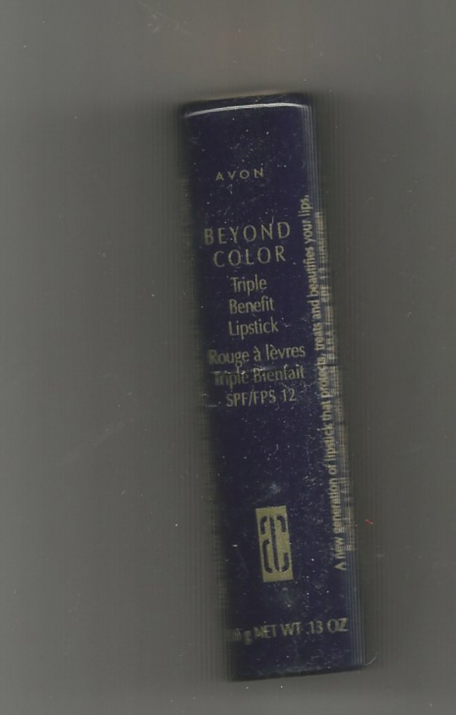 Avon Beyond Color Triple Benefit Lipstick-- SPF 12- Cocoa-  Vintage