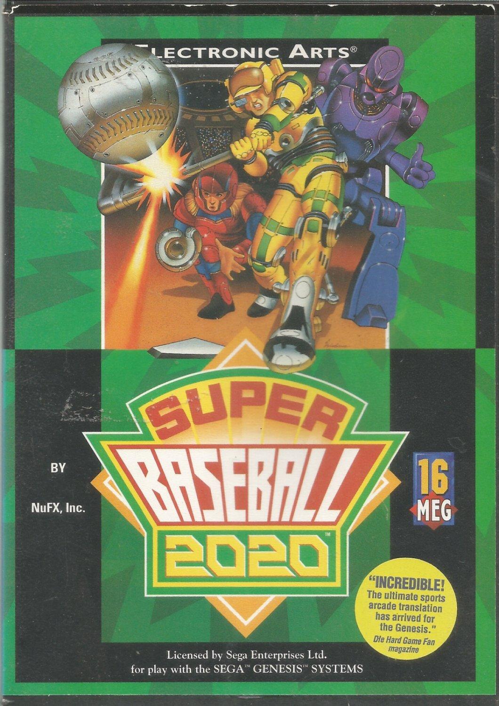 Electronic Arts Super Baseball 2020  Genesis game cartridge
