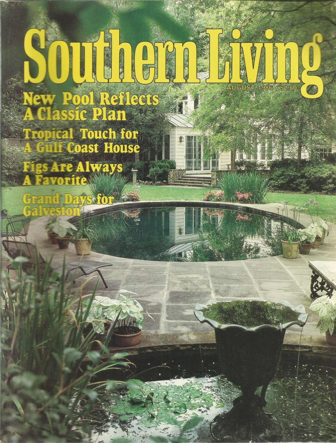 Southern Living magazine-  August 1986- Grand days for Galveston
