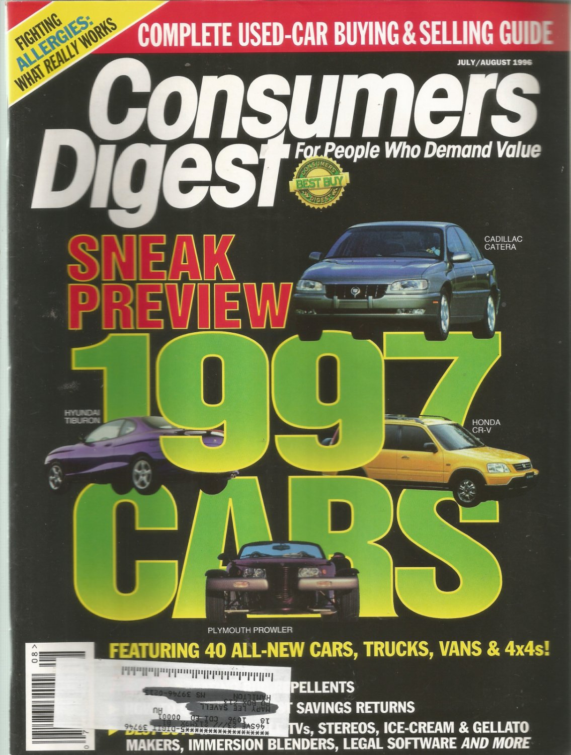 Consumers Digest-  July/ August 1996-  Fighting Allergies:  What really works
