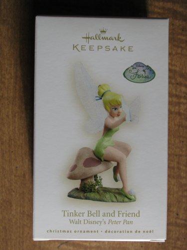 New 2008 Tinker Bell and Friend Hallmark Keepsake Christmas Ornament from Walt Disney's Peter Pan
