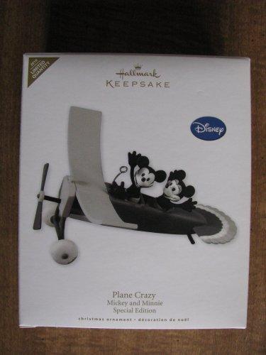 New 2010 Disney Mickey and Minnie Plane Crazy Hallmark Keepsake Christmas Ornament