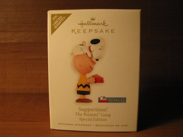 2008 Suppertime! Peanuts Hallmark Keepsake Christmas Ornament