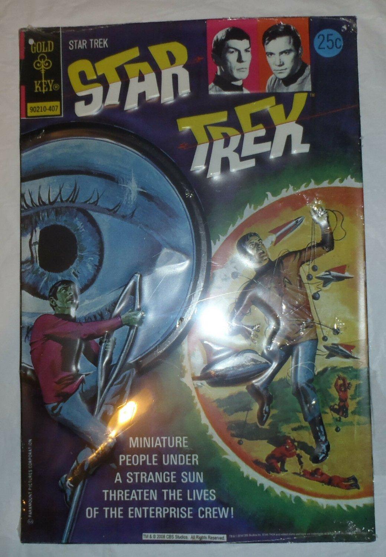 "Star Trek Gold Key Metal Tin Embossed Sign Wall Decor 9"" x 13"" - 90210-407"