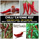 CHILLI Cayenne Red Chili 10 Seeds