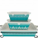 Cook's Essentials Madison 4 pc. Bakeware Set with Lids Model K45567