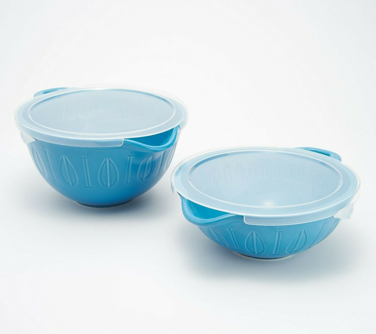Mad Hungry 2-Piece Lip'n'Loop Mixing Bowl with Lids NEW Model K48001