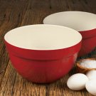 """Artisan Series ROUSSEAU 7.25"""" and 8.25"""" Mixing Bowl Set for Cooking and Baking"""