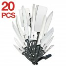 Ronco 20 Piece Knife Set, Full-Tang Handle, Professional Kitchen Knife Set