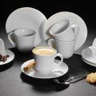 Alessi KU 2 4 6 Porcelain Cups & Saucer Espresso Coffee Ceramic Gift Boxed Set