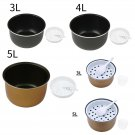 Non Stick Rice Cooker Inner Pot Interior Coated Liner Steamer Tray Spoon Cup