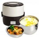 Portable Electric Lunch Box 2 Layer 1.0L Mini Steamer Pot Heating Rice ε ρ